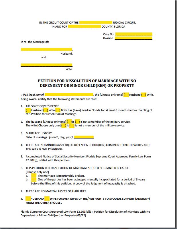 Florida Court Forms