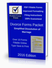PDF Fillable Forms Packet for Simplified Dissolution of Marriage (DFP901A)