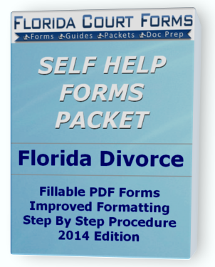 Florida Simplified Dissolution of Marriage Forms Packet 12.901(a)