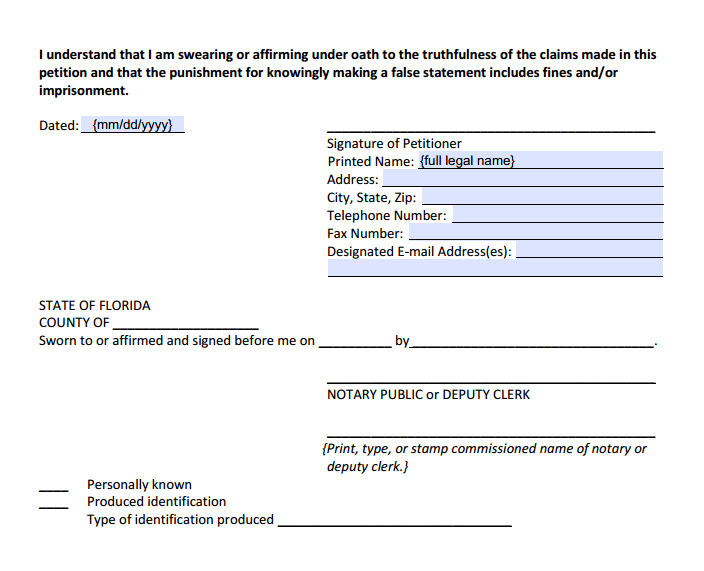 Divorce With Children Signature Section