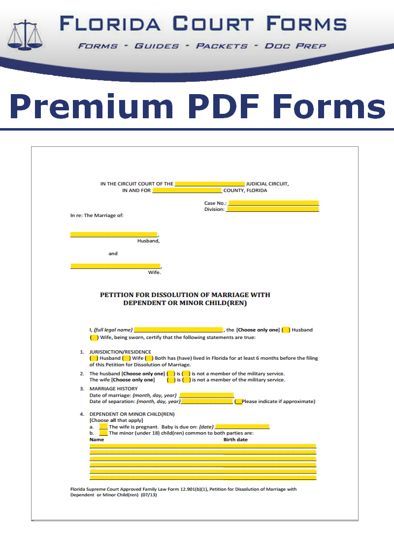 Florida family law forms interactive fillable family law forms in pdf interactive fillable forms solutioingenieria Gallery