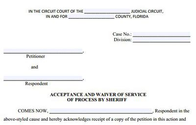 Acceptance & Waiver of Process
